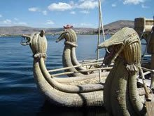 Boats to Uros Island