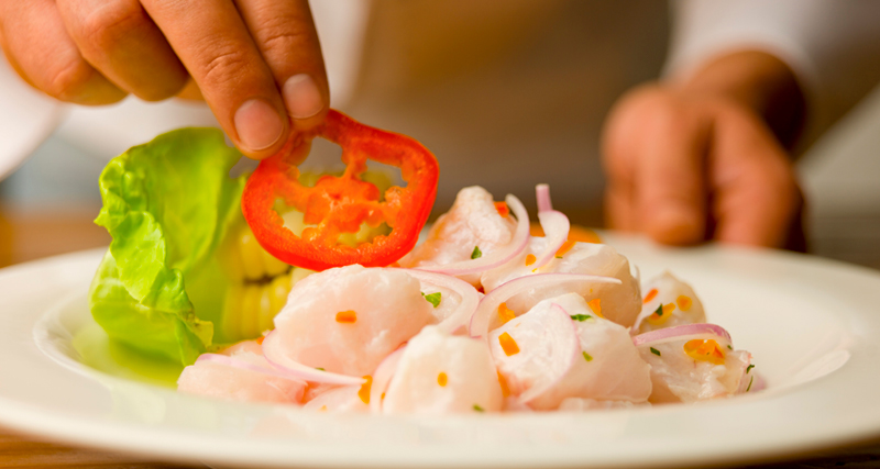 Peruvian food: Ceviche, our proud traditional dish.