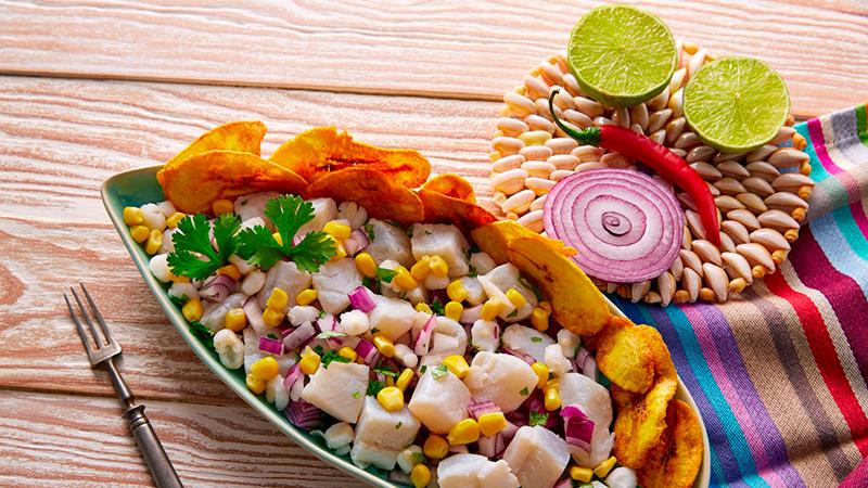 Ceviche dish, in Lima Tou