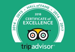 Certificate of Excellence / Best Peru Tours in HALL of FAME