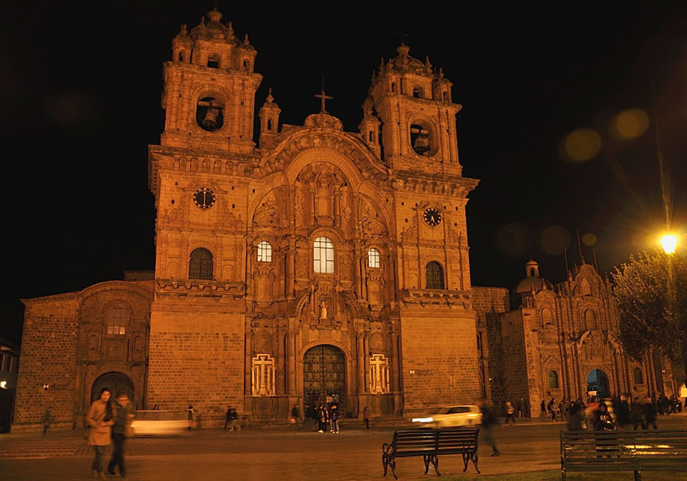 Church Baroque in Night