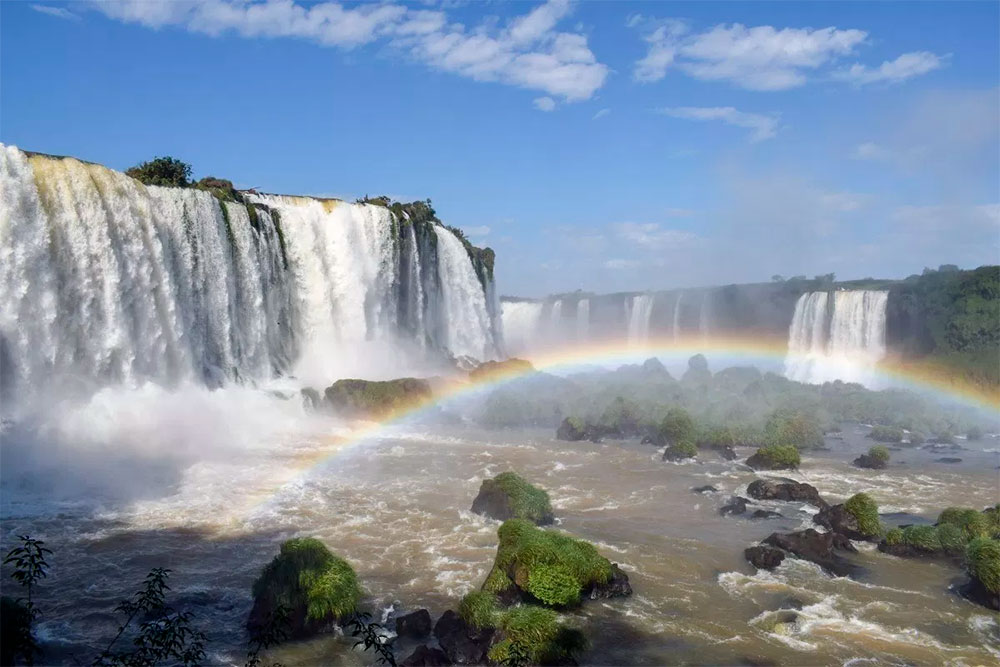 rainbow in Iguazu Falls